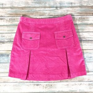 Fila Golf Pink Corduroy Pleated Pockets Skirt Sz 8